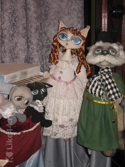 Куклы из спектакля Кошкин дом