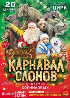 Новогодний карнавал слонов