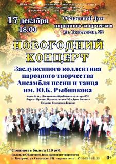 Афиша концерта Новогодний концерт