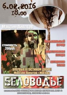Афиша Музыкальный вечер Максима Липатова