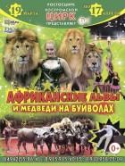 Африканские львы и медведи на буйволах