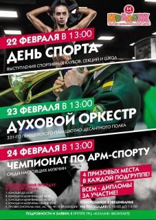 Афиша Чемпионат по армспорту