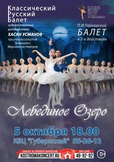 Афиша балета Лебединое озеро