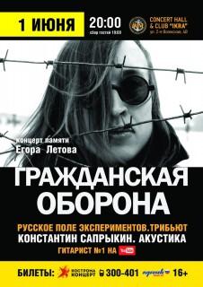 Афиша концерта Константин Сапрыкин