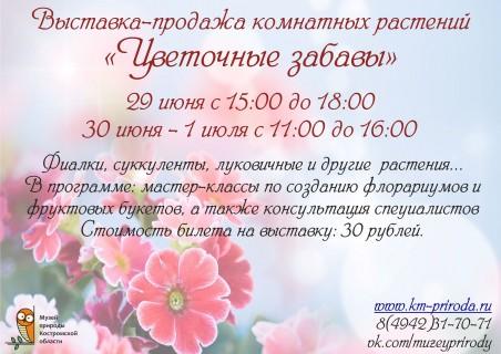Афиша выставки Цветочные забавы