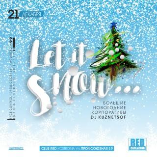Афиша вечеринки Let It Snow