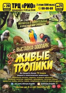 Афиша выставки Живые тропики